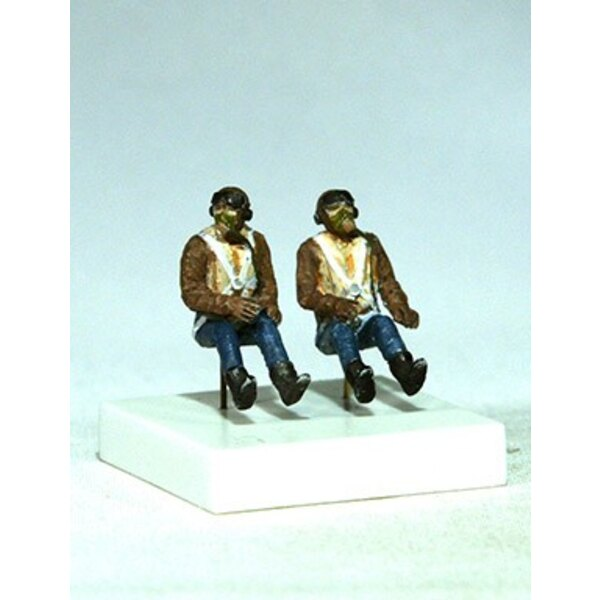 RAF Pilots seated in a/c (WWII). Set of 2 figures