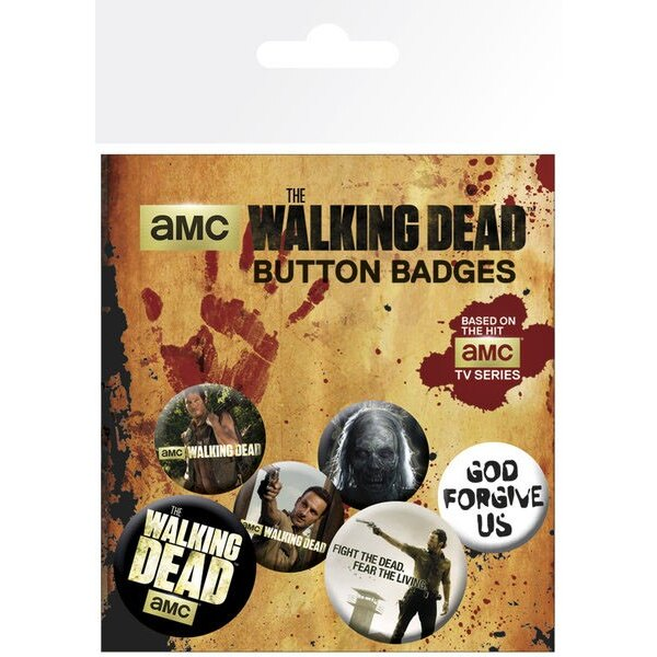 Walking Dead Pin Badges 6-Pack Mix