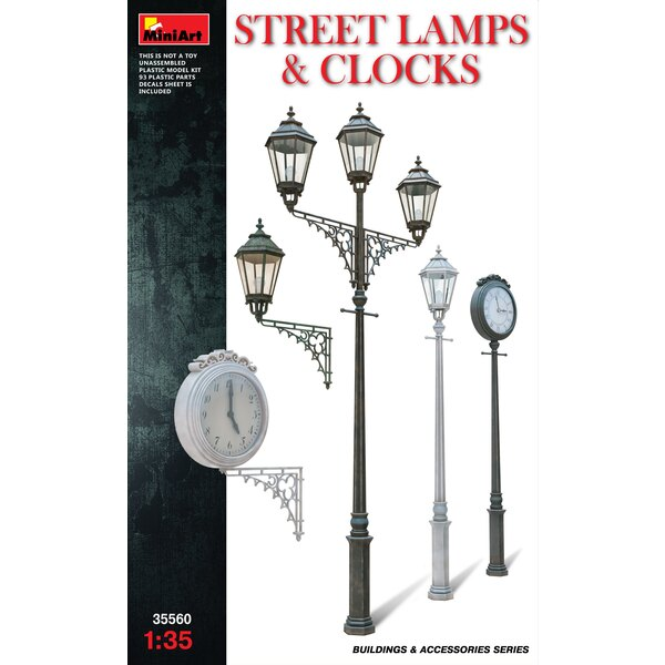 assorted Street Lamps Clocks