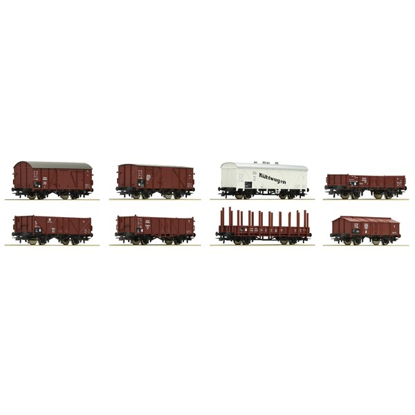 8-piece set of freight cars, DRG