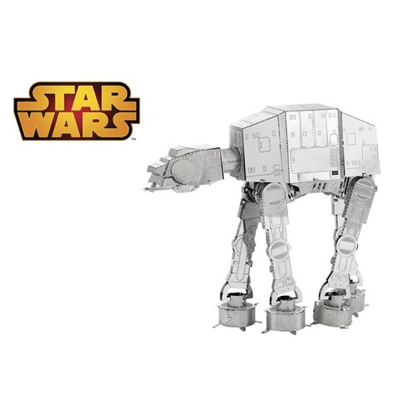 MetalEarth: STAR WARS AT-AT 6.14x5.75x5.15cm, metal 3D model with 2 sheets, on card 12x17cm, 14+