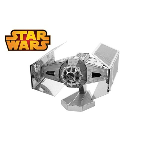 MetalEarth: STAR WARS DARTH VADER'S TIE FIGHTER 7.6x6.8x2.5cm, metal 3D model with 2 sheets, on card 12x17cm, 14+