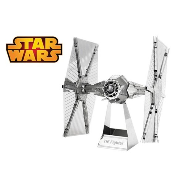 MetalEarth: STAR WARS TIE FIGHTER 6.5x6x7.3cm, metal 3D model with 2 sheets, on card 12x17cm, 14+