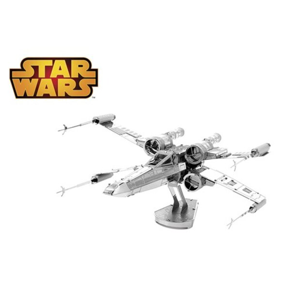 MetalEarth: STAR WARS X-WING STAR FIGHTER 10.10x8.52x5.15cm, metal 3D model with 2 sheets, on card 12x17cm, 14+