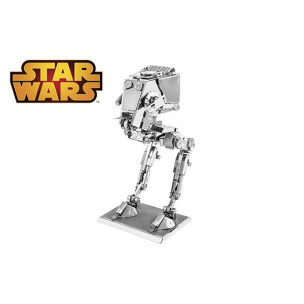MetalEarth: STAR WARS AT-ST 8.89x5.08x4.44cm, metal 3D model with 2 sheets, on card 12x17cm, 14+