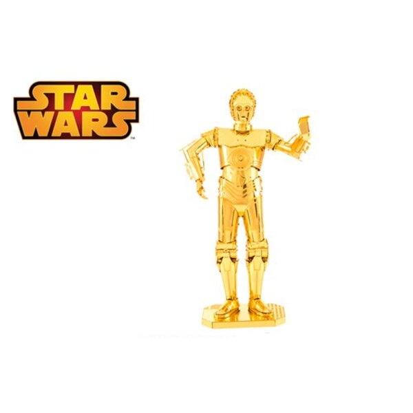 MetalEarth: STAR WARS C-3PO gold, metal 3D model with 2 sheets, on card 12x17cm, 14+