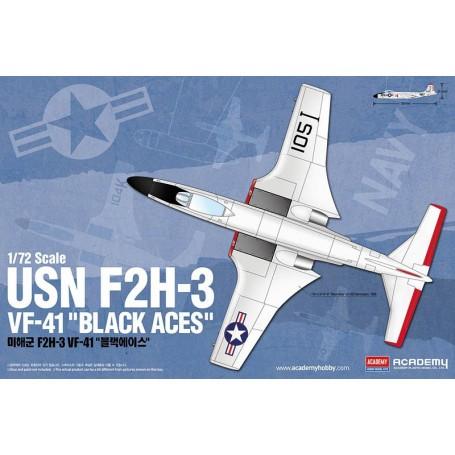 """McDonnell F2H-3 Banshee USN VF-41 """"Black Aces"""""""
