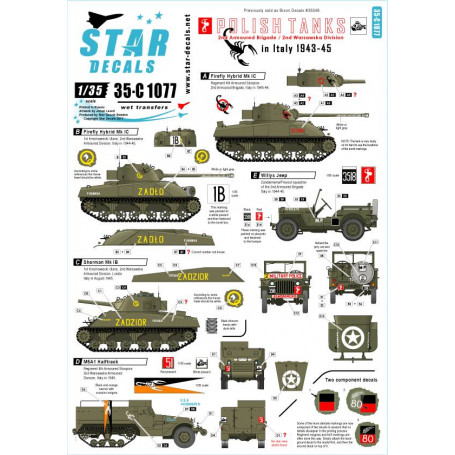 Universal Detail U.S.A US ARMY Military White Star Tank Markings Model Kit Decal