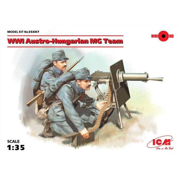 WWI Austro-Hungarian MG Team (2 figures) (100% new molds) The set includes two figures of Austro-Hungarian machine gunners of W