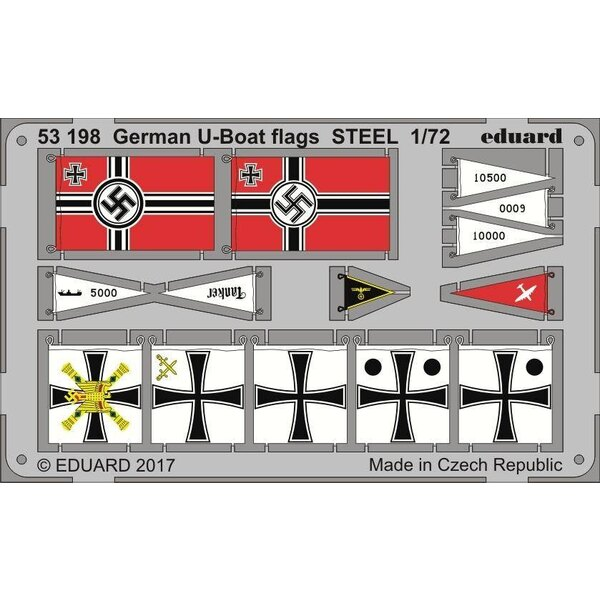 U-Boot U-IXC flags STEEL (designed to be used with Revell kits)
