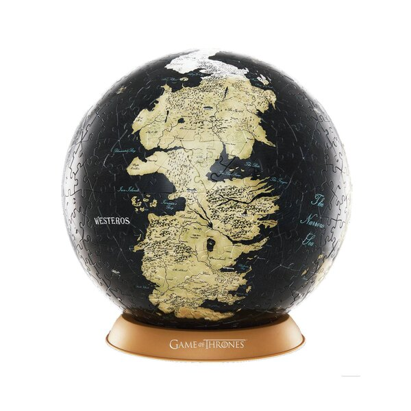 Puzzle Game of Thrones 3D Globe Puzzle Unknown World (80 pieces)