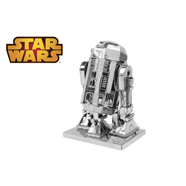 MetalEarth: STAR WARS R2-D2 6.93x4.95x3.47cm, metal 3D model with 2 sheets, on card 12x17cm, 14+