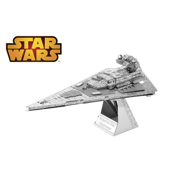 MetalEarth: STAR WARS IMPERIAL STAR DESTROYER 10.3x5.94x5.84cm, metal 3D model with 2 sheets, on card 12x17cm, 14+