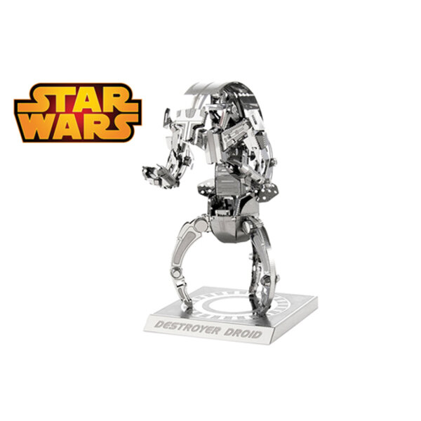 MetalEarth: STAR WARS DESTROYER DROID 5x4.9x8.6cm, metal 3D model with 2 sheets, on card 12x17cm, 14+