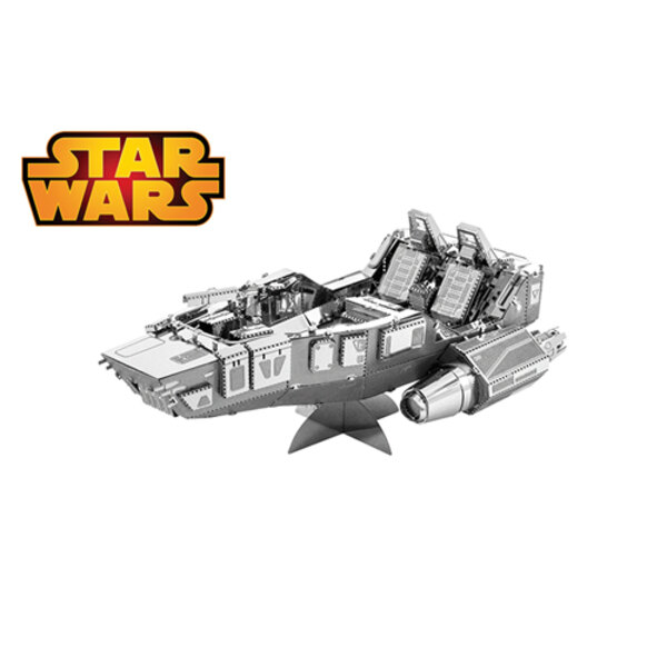 MetalEarth: STAR WARS (EP7) FIRST ORDER SNOWSPEEDER 8.26x5.72x3.43cm, metal 3D model with 2 sheets, on card 12x17cm, 14+