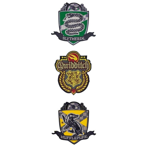 Harry Potter Patches 3-Pack Deluxe Quidditch Hogwarts