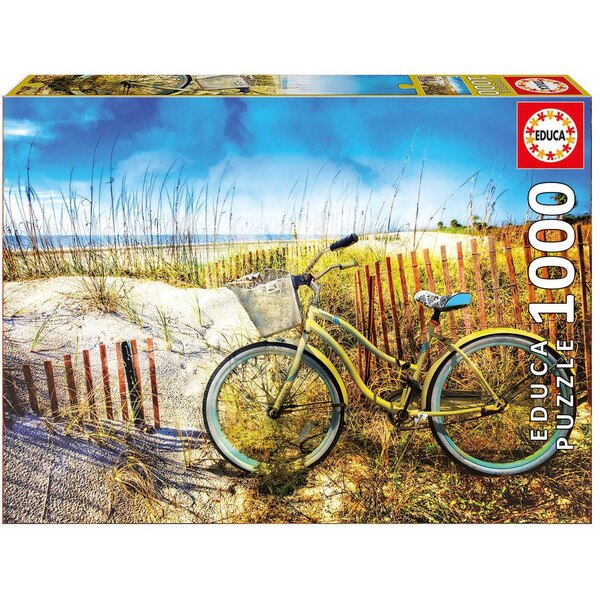 Puzzle Bicycle in the dunes