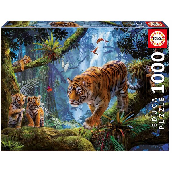 Puzzle Tigers on the tree