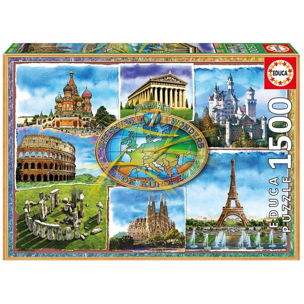Puzzle Seven wonders of Europe