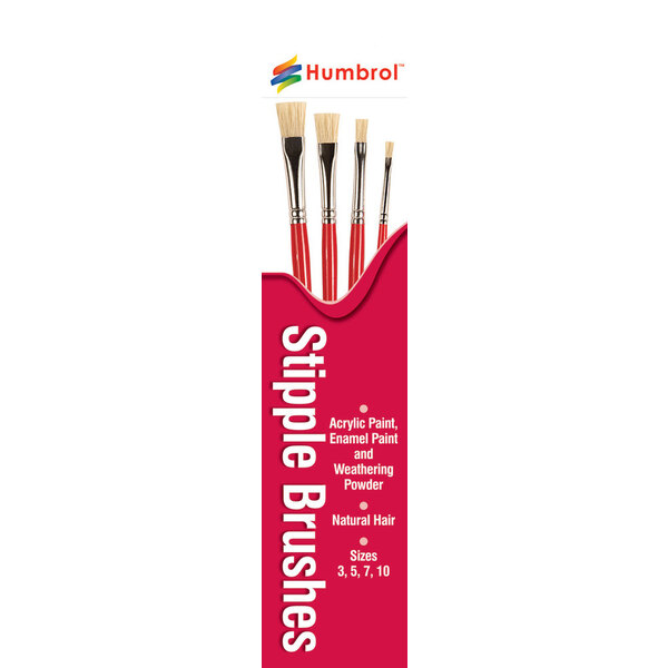 Flat Brush Pack Sizes 3, 5, 7, 10
