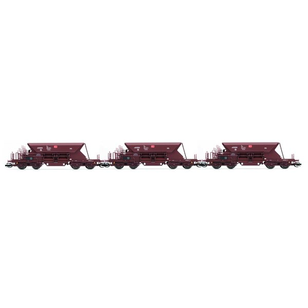 3-pc.Set of self unloading wagons type Fac 125 of the DB AG