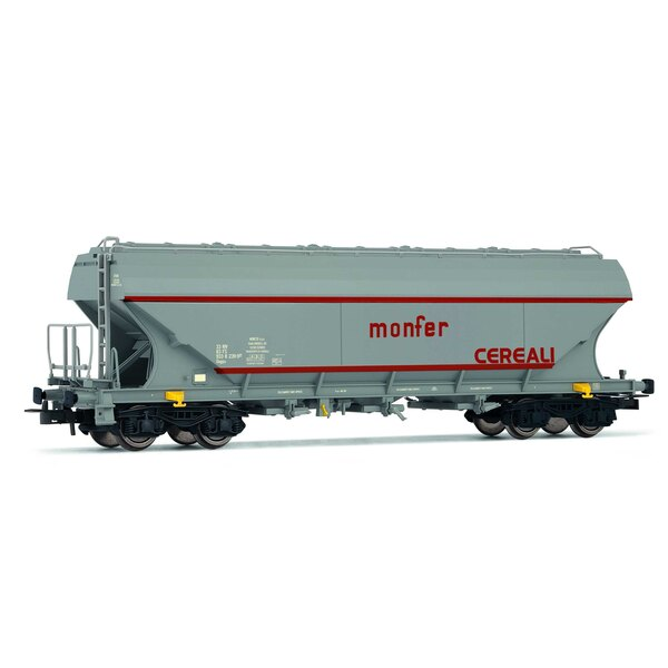 "Set of two flat sided hopper wagons ""Monfer"""