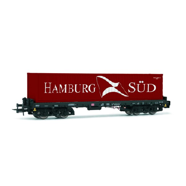 """DB AG, Sgmms 738, container wagon with 40"""" container """"Hamburg Süd"""", epoch V"""