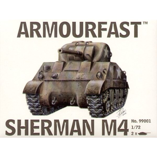 Sherman M4 Medium Tank: the pack includes 2 snap together tank kits