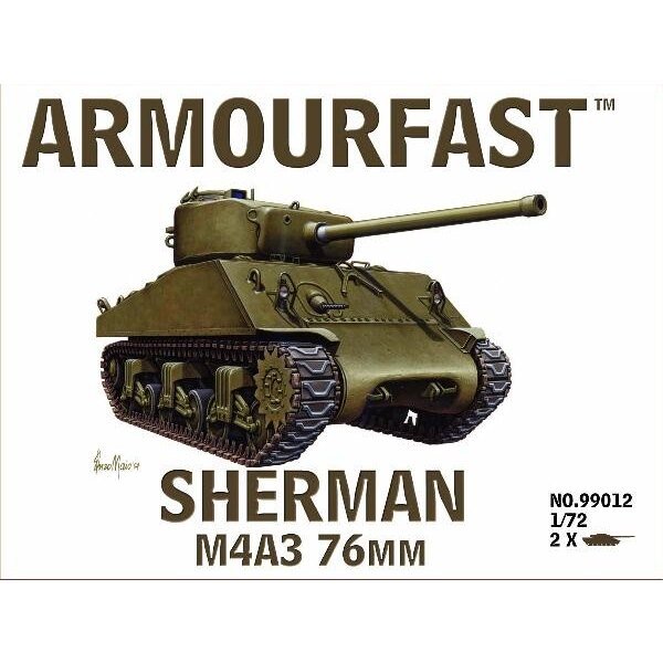 M4A3 Sherman 76mm: the pack includes 2 snap together tank kits