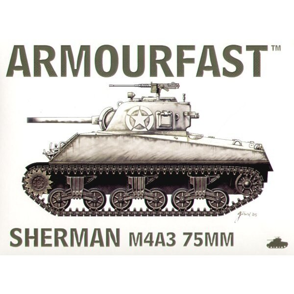 M4A3 Sherman 75mm gun: the pack includes 2 snap together tank kits