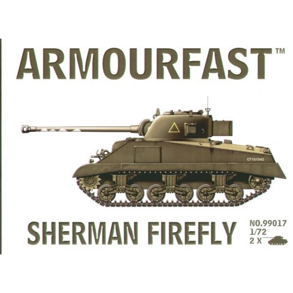 Sherman Firefly: the pack includes 2 snap together tank kits