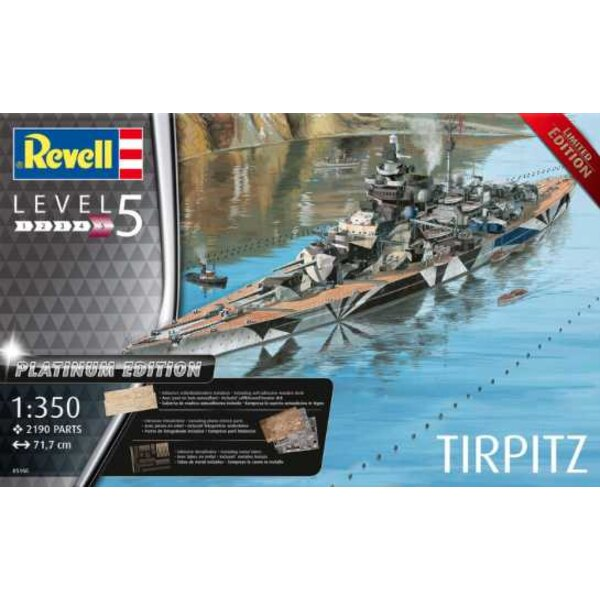 Tirpitz German Battleship (Platinum Edition)A model construction kit of at that time the largest and most modern battleship in t