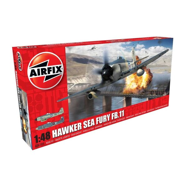 Back In Stock!! Hawker Sea Fury FB.11 NEW TOOLING<br /><br />One of the most capable piston engined fighter aircraft ever produc