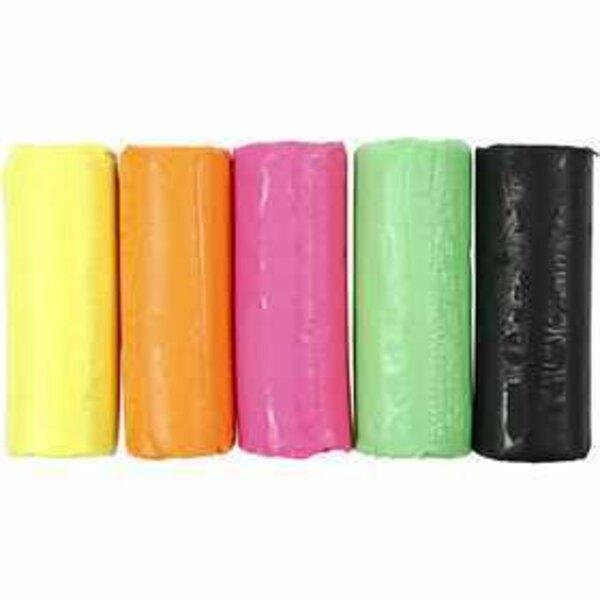 Soft Clay, H: 9.5 cm, D: 10 cm, neon colours, 400g