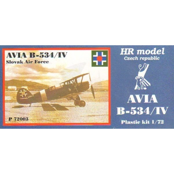 Avia B-534/IV including etched parts. Decals Slovak Air Force
