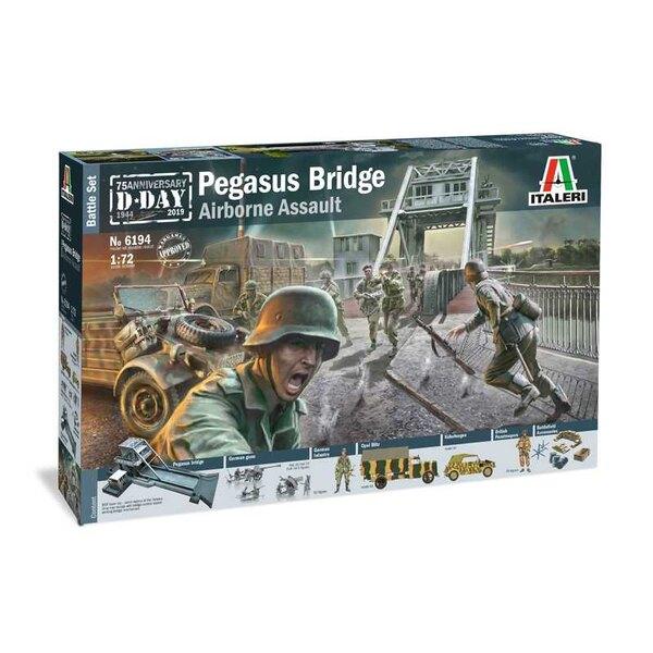 Pegasus Bridge Glider AssaultPegasus Bridge (MDF Laser Cut)British ParatroopsGerman Paratroops3 x German Guns (2 x AT & 1 x Flak