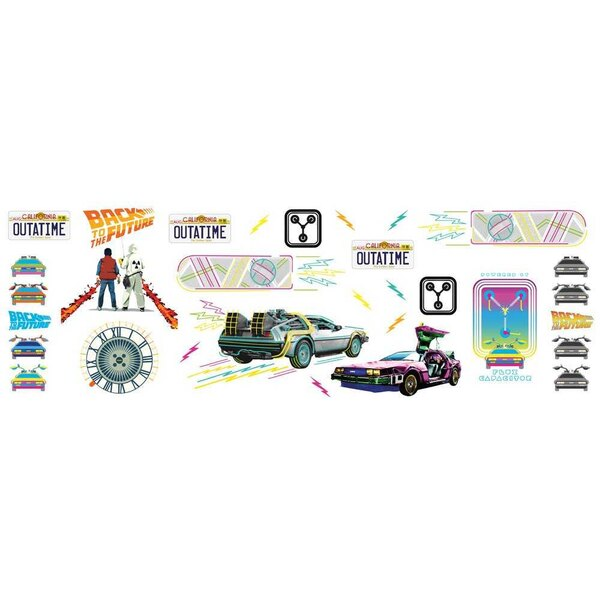 Back to the future repositionable stickers