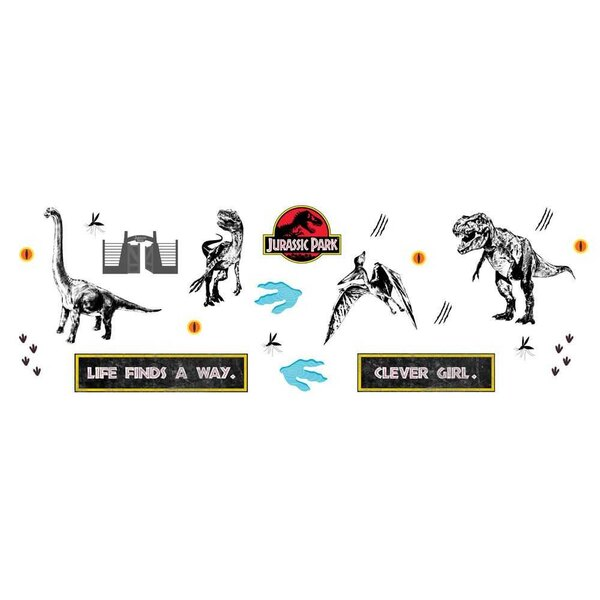 Jurassic Park repositionable stickers