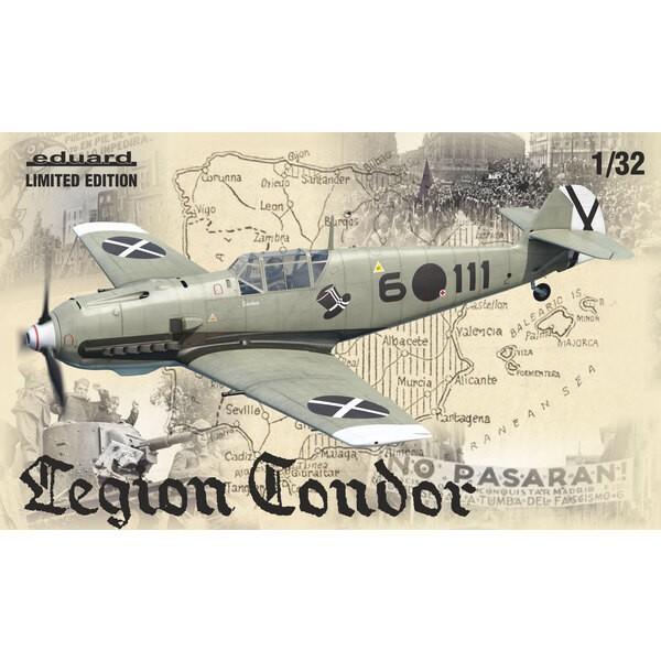 Messerschmitt Bf-109E Legion Condor Limited Edition kit of German WWII fighter aircraft Messerschmitt Bf-109E in 1/32 scale. The