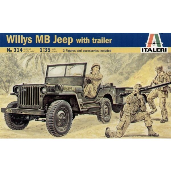 US Willy′s Jeep with Trailer
