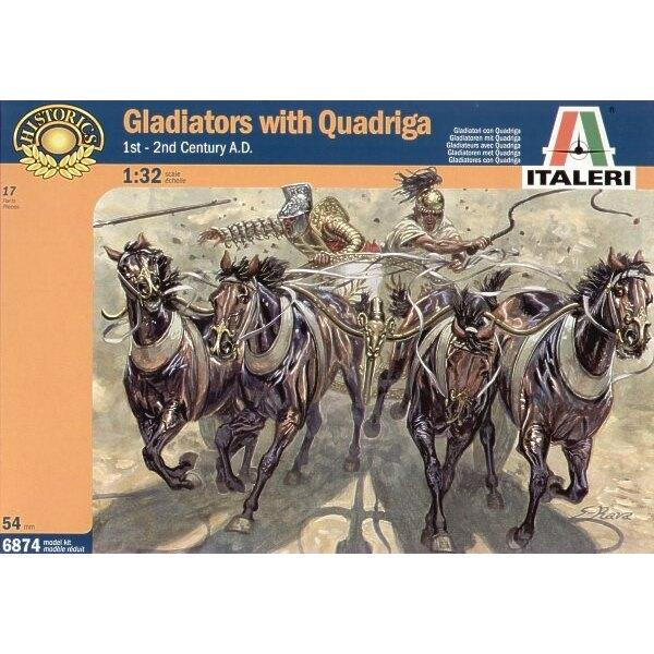 Gladiators with Quadriga