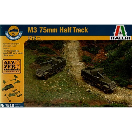M3 75mm Half Track includes 2 snap together vehicles