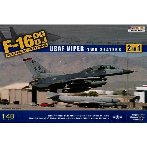 Lockheed Martin F-16NG OR Lockheed Martin F-16NJ USAF Viper Block 40/50. Decals USAF 555FS Aviano Air Force Base Italy and 35th