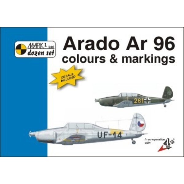 Arado Ar 96 Colour And Markings AND Decals (designed to be assembled with model kits from Special Hobby)