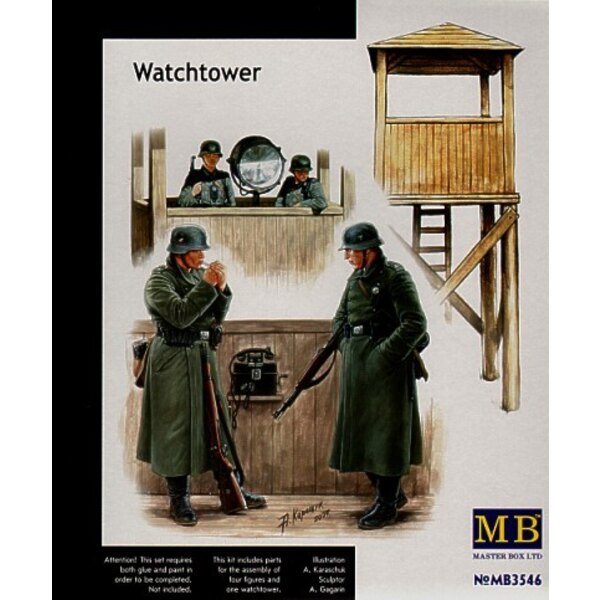 German WWII Watchtower and guards