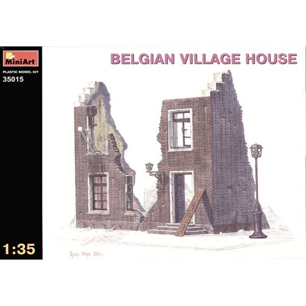 ruined Belgian village house