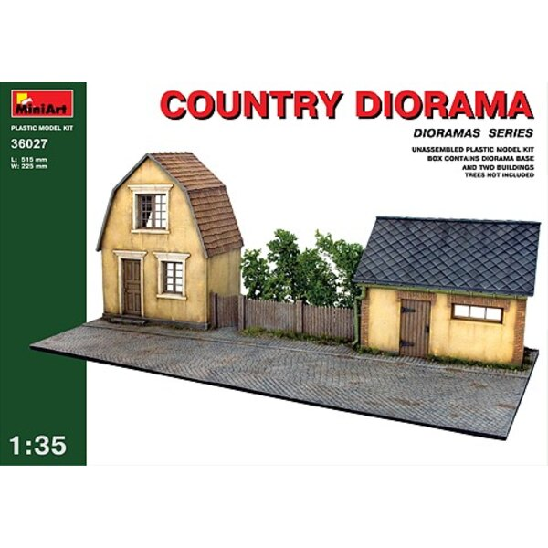 Village house and barn fronts with diorama bases Country diorama (MT36031 AND MT36032 double kit)