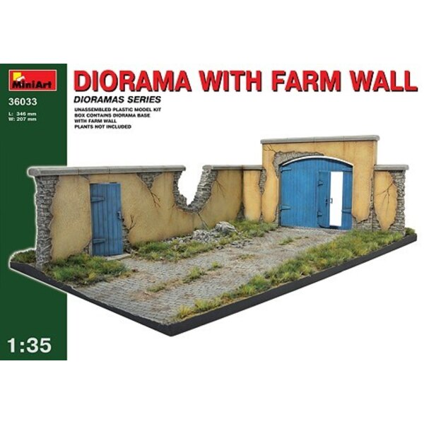 Farmyard base with wall and gate