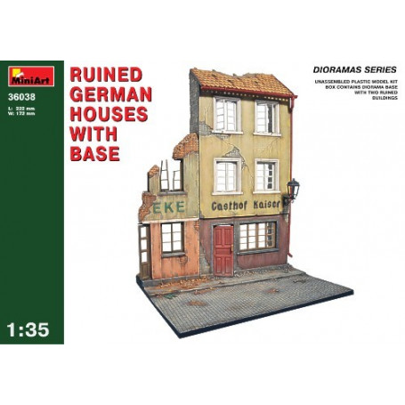 Ruined German houses with base