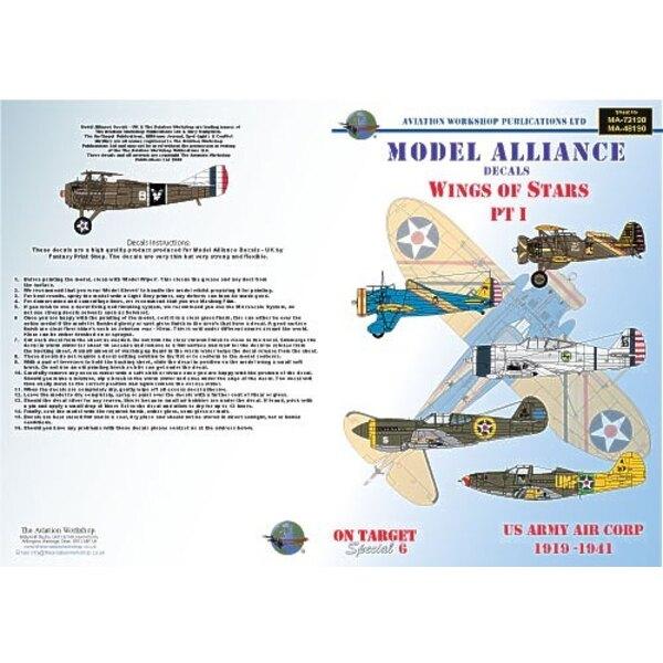Wings Of Stars Pt 1 (6) Boeing P-26A/C Peashooter 18th PG Hawaii 1939 blue fuselage Boeing P-21E 19th PS Hawaii 1933 OD fuselage